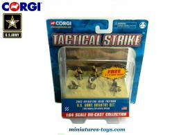 Les 6 figurines de l'US Army en Irak par Corgi Tactical strike au 1/64e