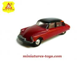 La DS19 Citroën rouge en miniature au H0 1/88e d'Eko Models