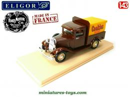 Le pick-up Ford V8 en miniature Cookies Jacquet par Eligor au 1/43e