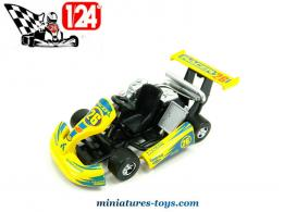 Le Karting Racer 26 jaune en miniature de Golden Wheel au 1/24e