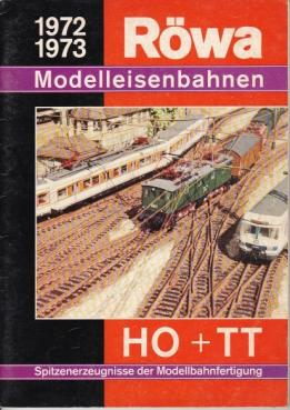 Le catalogue grand format de trains miniatures Rowa de 1972 1973