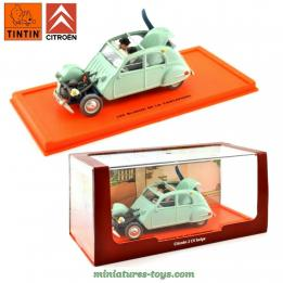 La 2 cv Citroën accidentée des Dupont en miniature de la collection Tintin 1/43e