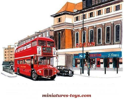 l 39 autobus anglais aec imp rial en miniature de oxford model au 1 76e miniatures toys. Black Bedroom Furniture Sets. Home Design Ideas