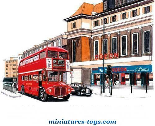 le bus anglais aec routemaster imp rial en miniature de budgie toy au 1 65e miniatures toys. Black Bedroom Furniture Sets. Home Design Ideas