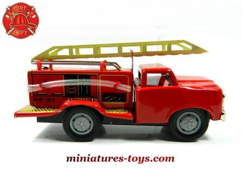 Style Le De Pompiers Camion D'intervention En Jouet Échelle Métal N8ymv0wPnO