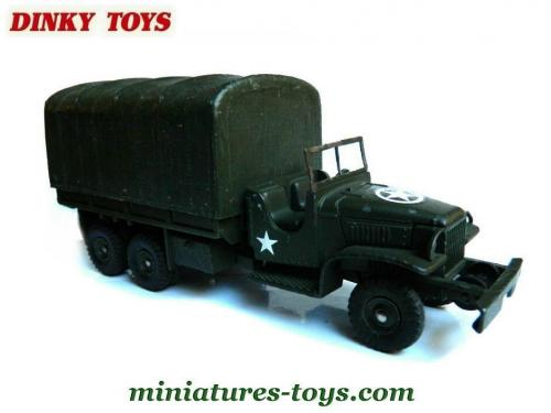 le camion militaire gmc cckw 353 6x6 b ch de dinky toys france incomplet miniatures toys. Black Bedroom Furniture Sets. Home Design Ideas