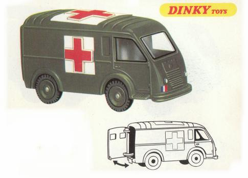 la porte arri re de l 39 ambulance militaire renault de dinky toys france miniatures toys. Black Bedroom Furniture Sets. Home Design Ideas