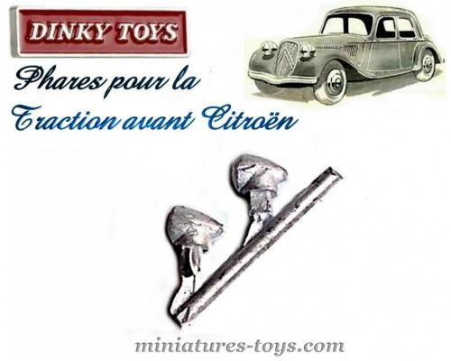 les 2 phares pour la traction avant citro n miniature de dinky toys au 1 43e miniatures toys. Black Bedroom Furniture Sets. Home Design Ideas