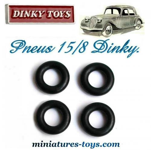 lot de 4 pneus dinky toys 15 8 lisses pour la traction avant citro n dinky miniatures toys. Black Bedroom Furniture Sets. Home Design Ideas