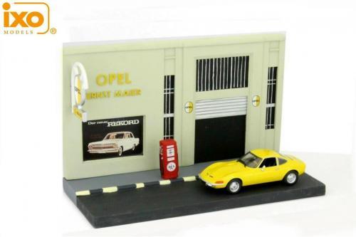 Le diorama du garage opel pour miniatures au 1 43e neuf for Garage opel cormelles le royal