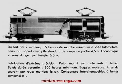 la locomotive lectrique bb 9201 premi re version en 6 volts au h0 de jouef miniatures toys. Black Bedroom Furniture Sets. Home Design Ideas