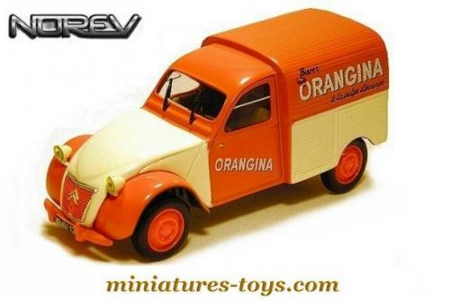 la 2cv citro u00ebn azu 1955 orangina en miniature de norev au 1  43e miniatures