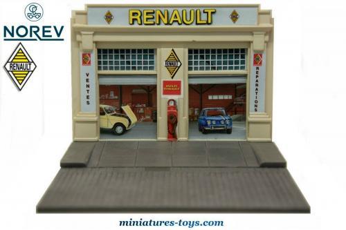 Le Diorama Du Garage Renault Miniature De Norev Au 143e Miniatures Toys