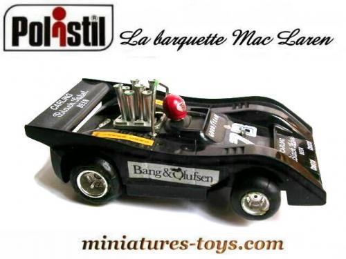 la formule 1 mac laren barquette en miniature pour circuit polistil au 1 38e miniatures toys. Black Bedroom Furniture Sets. Home Design Ideas