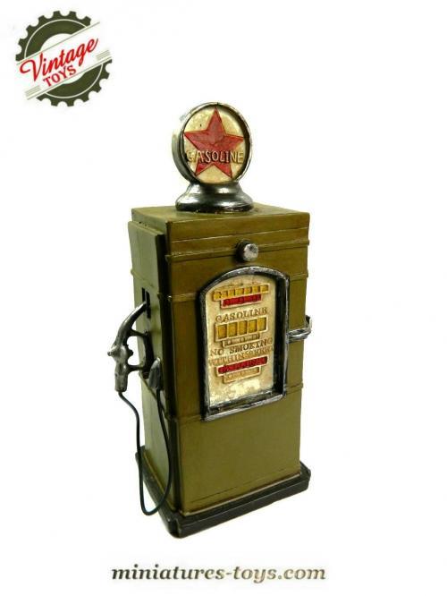 La pompe a essence am ricaine gasoline tirelire en r sine miniatures toys - Pompe a essence americaine ...
