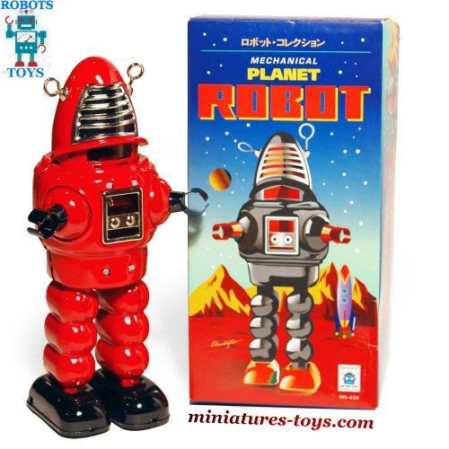 le robot jouet robby en m tal de couleur rouge du film plan te interdite miniatures toys. Black Bedroom Furniture Sets. Home Design Ideas