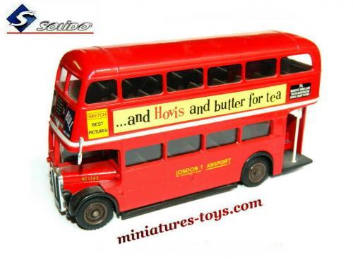 l 39 autobus anglais aec rouge a imp rial londonien miniature de solido au 1 50e miniatures toys. Black Bedroom Furniture Sets. Home Design Ideas
