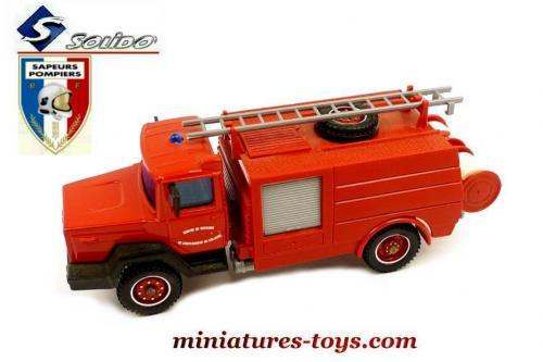 le camion de pompiers citerne iveco ccr miniature de solido au 1 50e miniatures toys. Black Bedroom Furniture Sets. Home Design Ideas