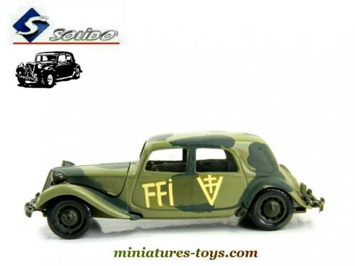la voiture traction avant citro n 15 cv ffi en miniature de solido au 1 43e miniatures toys. Black Bedroom Furniture Sets. Home Design Ideas