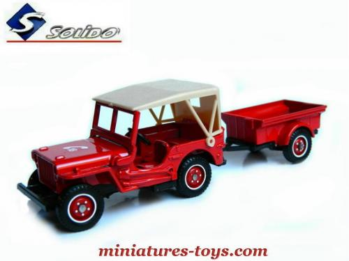 la jeep willys et sa remorque pompiers en miniature de solido au 1 38e miniatures toys. Black Bedroom Furniture Sets. Home Design Ideas