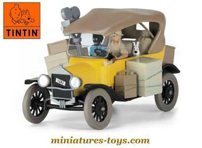 la ford t miniature de l 39 album tintin au congo d 39 atlas au 1 43e miniatures toys. Black Bedroom Furniture Sets. Home Design Ideas