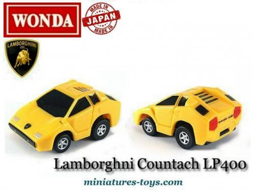 La Lamborghini Countach Lp 400 Jaune En Miniature De Wonda Au 1 87e
