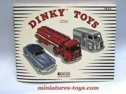 La réédition du catalogue de miniatures de Dinky Toys France 1954