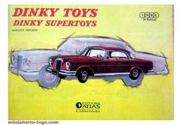 La réédition du catalogue de miniatures de Dinky Toys France 1963, neuf