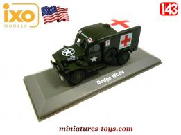 Le Dodge WC 54 ambulance militaire en miniature par Ixo models au 1/43e