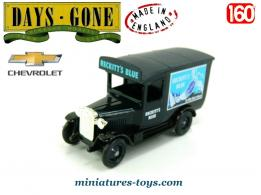 Le fourgon Chevrolet Reckitts Blue en miniature par Lledo Days Gone au 1/60e
