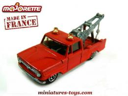 Le Dodge dépanneuse rouge miniature de Majorette France au 1/80e