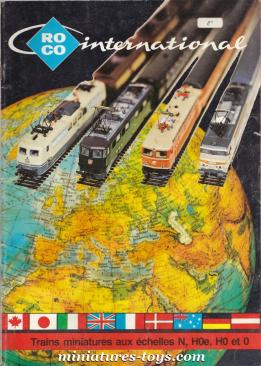 Le catalogue Roco 1977 de trains miniatures HO et N