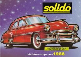 Le catalogue grand format des miniatures Solido de 1986