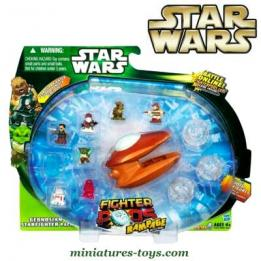 Un ensemble Star Wars Fighter pods Geonosian Starfighter